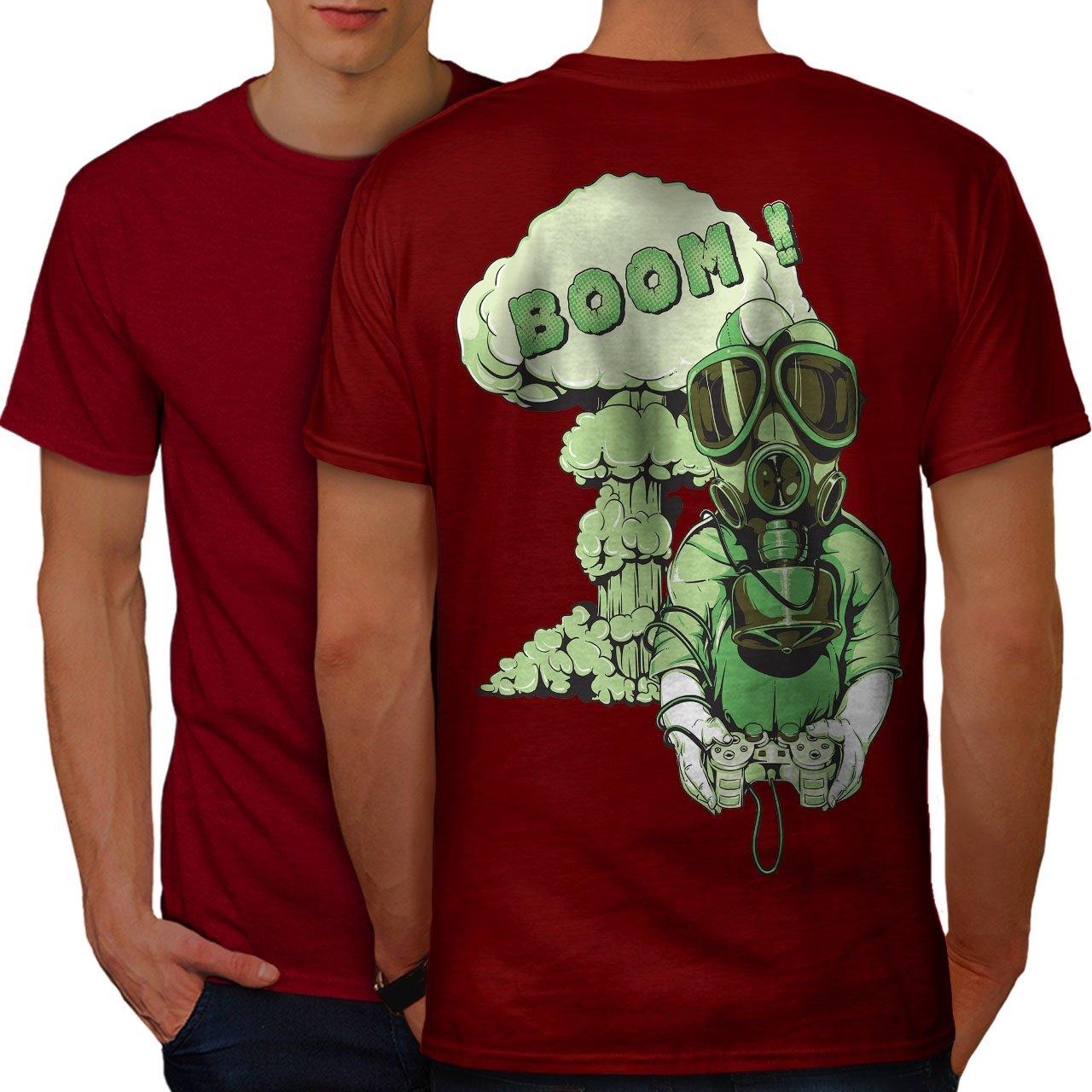Amazon Wellcoda Gaming Boom Toxic Geek Mens T Shirt Design