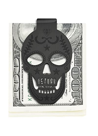 5cce7245cd649 Stainless Steel Skull Money Clip Wallet