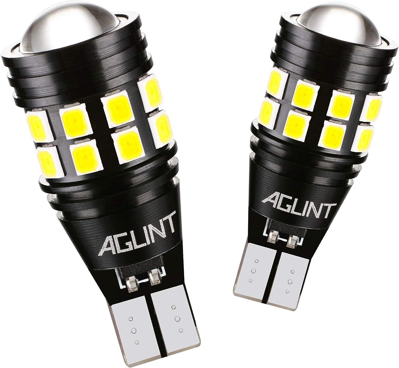 AGLINT 2X W16W T15 LED Bombillas CANBUS Error Gratuito 3030 22SMD Alta Brillante 921 912 Para Coche Luz de Estacionamiento Copia de seguridad Luz de Marcha Atrás Bombilla 6500K Xenon Blanco