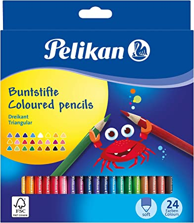 20 LARGE COLOURED PENCIL PACK School Stationery Children Kids Arts Craft Set New