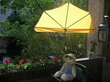Hollymat ® - STABIELO - Balkon-Fächer-Sonnenschirm 140 x 70 cm Farbe ...