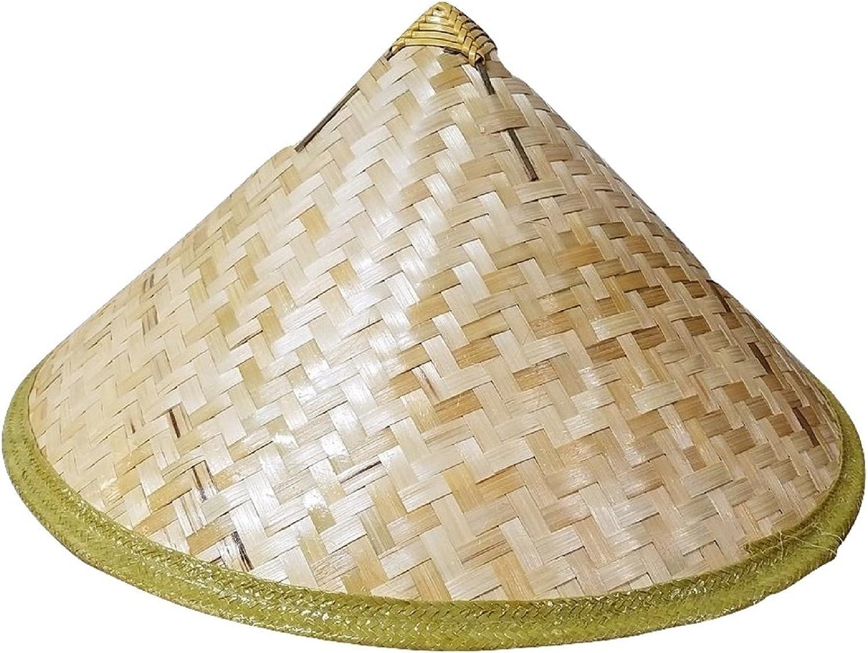 Amazon Com Bamboo Cone Sun Hat Asian Vietnamese Japanese Straw Farmer Costume Accessory Clothing