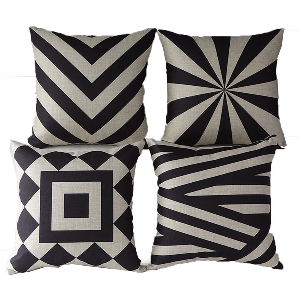 Vintage Style Cotton Linen Sofa Home Decor Design Throw Pillow Case Cushion Covers