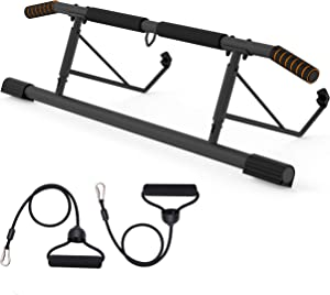 CEAYUN Pull up Bar for Doorway, Portable Pullup Chin up Bar Home, No Screws Multifunctional Dip bar Fitness, Door Exercise Equipment Body Gym System Trainer