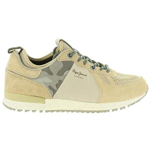Zapatillas Pepe Jeans Tinker Pro73 Beige Hombre: Amazon.es: Zapatos y complementos