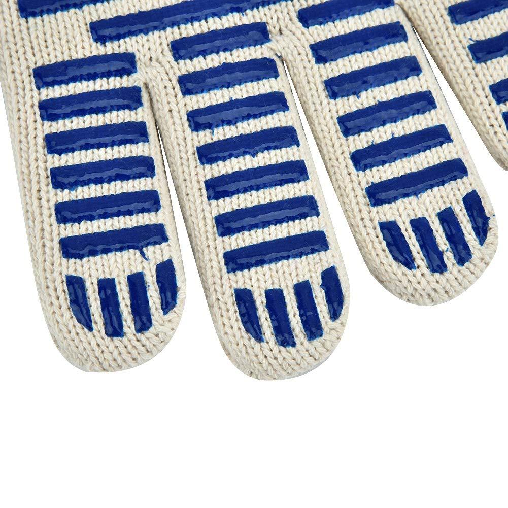 pour la cuisine et le four 1 paire de gants de s/écurit/é r/ésistants au feu pour gants de four /à micro-ondes r/ésistants au feu et /à la chaleur