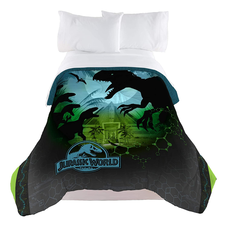 Universal Jurassic World Biggest Growl 72 x 86 Microfiber Comforter, Twin/Full Franco Manufacturing ML5438