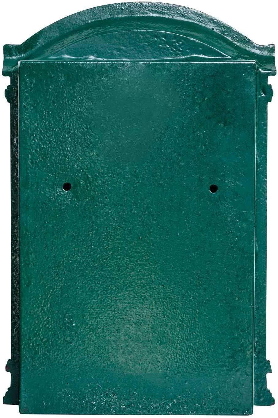 Exquisite letter box 44cm green iron wall-mounted in a vintage style