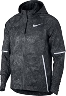 aaf1e200afc9 Nike Mens City Flash 3M Reflective Running Jacket Black Sz Small at ...