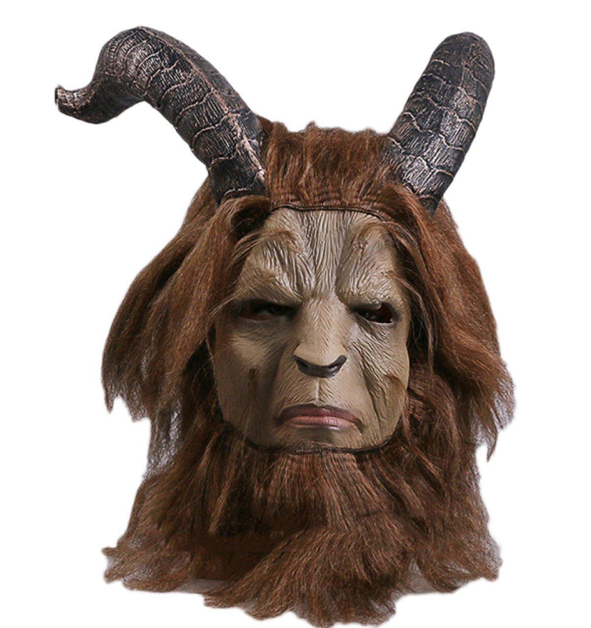 Cosplay Maske Die Schöne Und Das Biest Live Version Maske Kapuze Cosplay Halloween Prinz Tier Maske,B-OneGröße