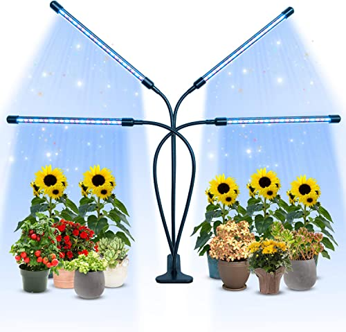 Plant Growth Light 80W Three-Head Timing, Adjustable LED, with Blue Spectrum
