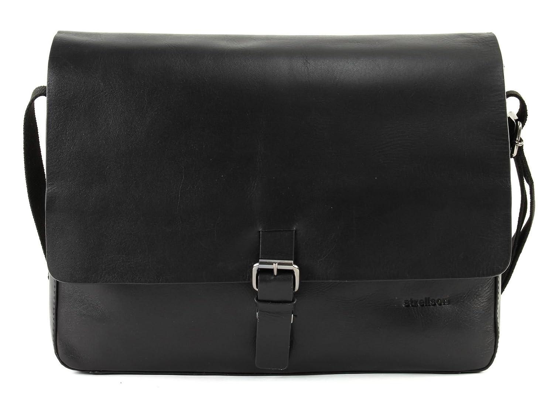 Strellson Scott Messenger Tasche Leder 35 cm Laptopfach