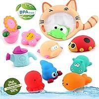 Jouets de bain, Chickwin Jouets de bain pour bébés Bijoux pour enfants Jouer Piscine d'eau Tub Animaux Jouet de son (10pcs)