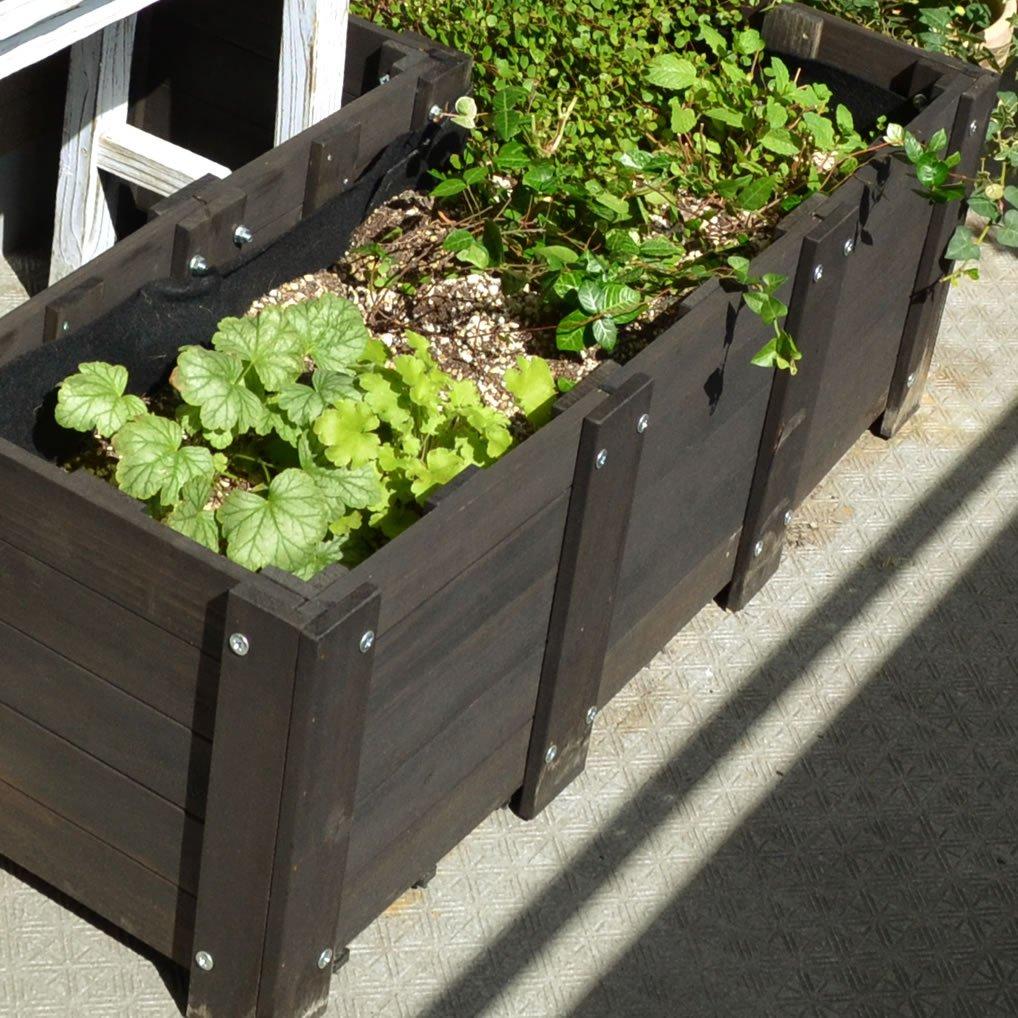 天然木製 花壇作成キット レイズドベッド 6面セット Eタイプ RB-SET6-E B06ZZ3Z2WT 6面セット Eタイプ