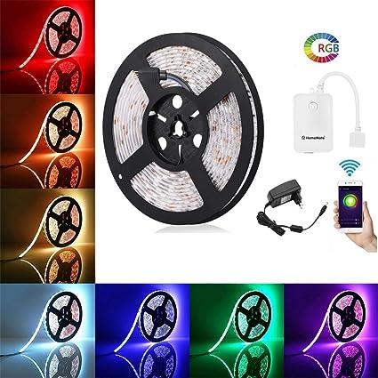 HomeMate WiFi Multicolour Smart LED Kit for Alexa, Google home and IFTTT (5  m)
