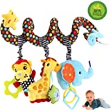 Hanging Toys for Car Seat Crib Mobile, willway Infant Baby Spiral Plush Toys for Crib Bed Stroller Car Seat Mobile