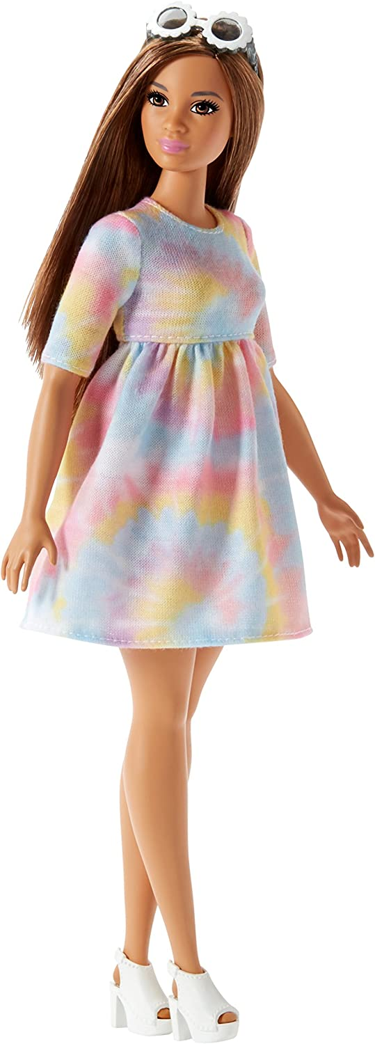 Short Dress made for Curvy Barbie Fashionista Doll Clothes TKCT pink tie dye