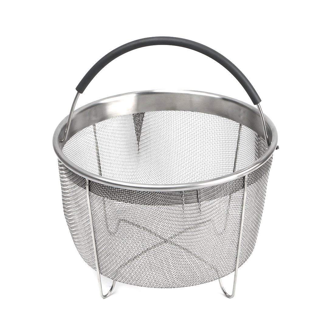 Stainless Steel Steamer Basket with handle for Instant Pot Accessories 3qt 3Quart Pressure Cooker, Made by Kaviatek