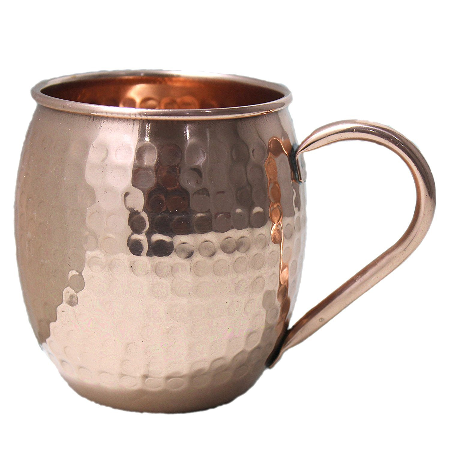 PARIJAT HANDICRAFT Handcrafted Moscow Mules Copper Mugs 100% Pure Copper Solid Moscow Mule Mug 24 Ounce Extra Large Size No Lining Hammered Finish with copper handle E8P-MT0-NXK