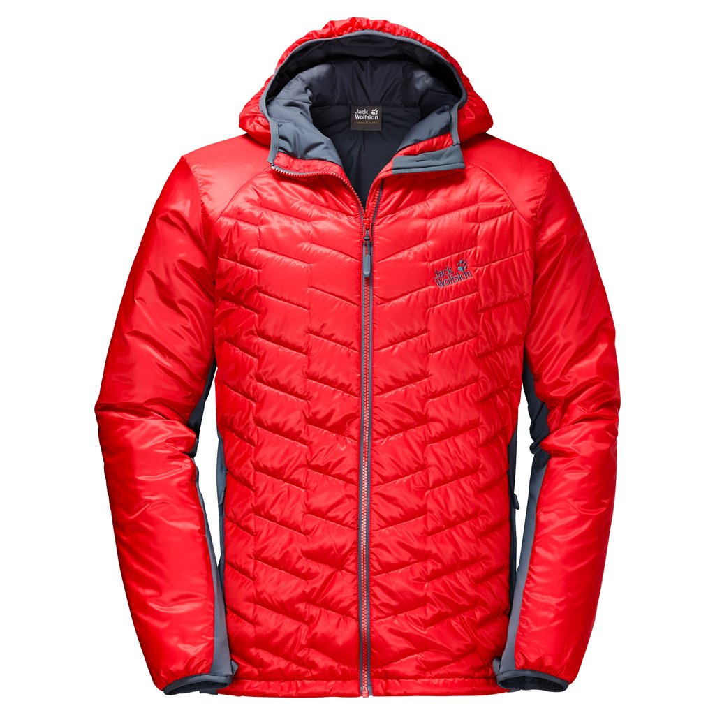 Jack Wolfskin Men's Icy Tundra Coat, FIERY Red, X-Large by Jack Wolfskin