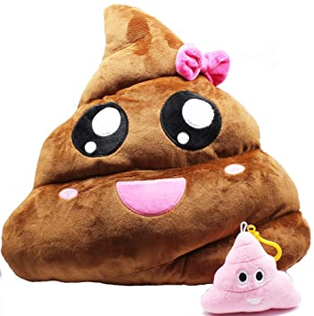 Amazon.com: YOUWITH JOY - Almohada de emoticono de caca de ...