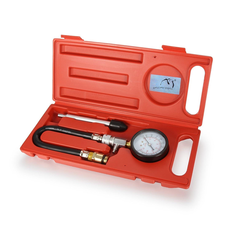 Dromedario benzina motore cilindro compressione tester set di attrezzi kit tester di compressione Dromedary Autoparts