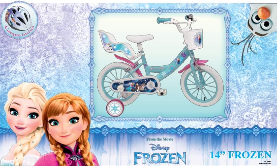 Reine Des Nieves - Bicicleta Infantil de Frozen, 14 Pulgadas + ...