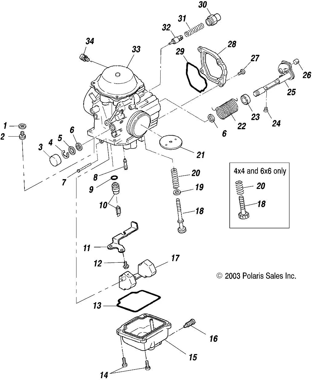 3131360 Polaris ATP Hawkeye Magnum 325 330 400 500 Carburetor Needle and Seat