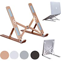 Portable Laptop Stand Foldable Aluminum Adjustable Laptop Stand for Desk with 7 Angle Adjustable Stand Compatible with…