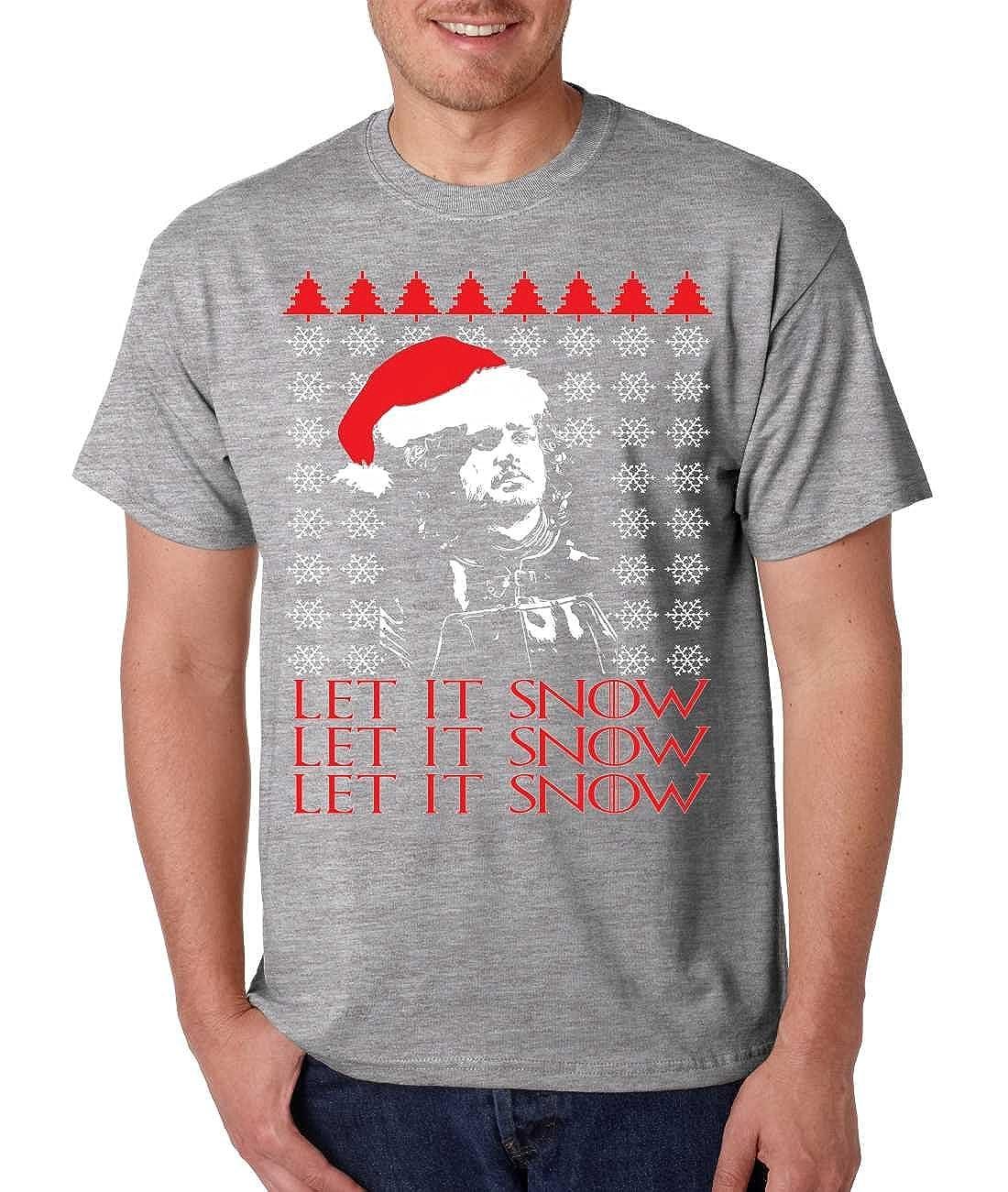 allntrends mens shirt let it snow ugly christmas sweater jon snow gift clothing jpg 1100x1301 jon