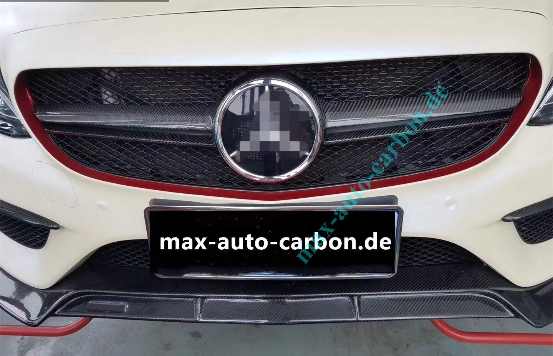 Rejilla de radiador de carbono para W205 C205 A205 S205 C63 C63S AMG: Amazon.es: Coche y moto