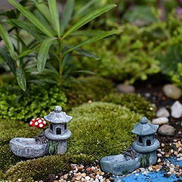 rokfscl dcor de jardin mini asiatique pagode lanterne extrieur statue rsine micro paysage ornement 4