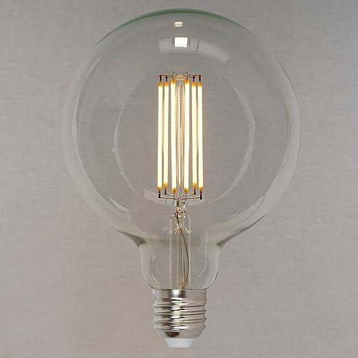 Retro Vintage Industriell Stil Gl/ühbirne Squirrel Cage Globe sehr gro/ß 125mm- The Retro Boutique /® 60W Dimmbares Vintage LED Edison Leuchtmittel 6W 660lm