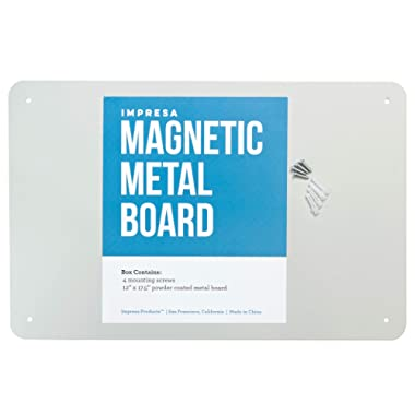 Impresa Products 17.5  x 11.5  Magnetic Board - Great Magnetic Bulletin Board, Magnetic Poetry