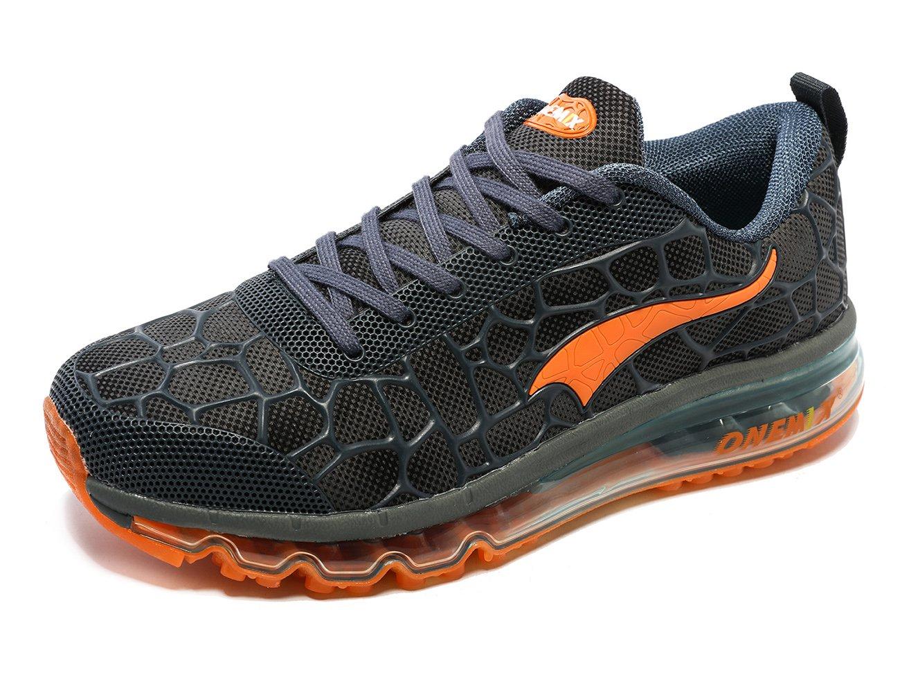 ONEMIX Men's Lightweight Air Cushion Sport Running Shoes B078B7Q4C6 8 D(M) US|Blue/Orange
