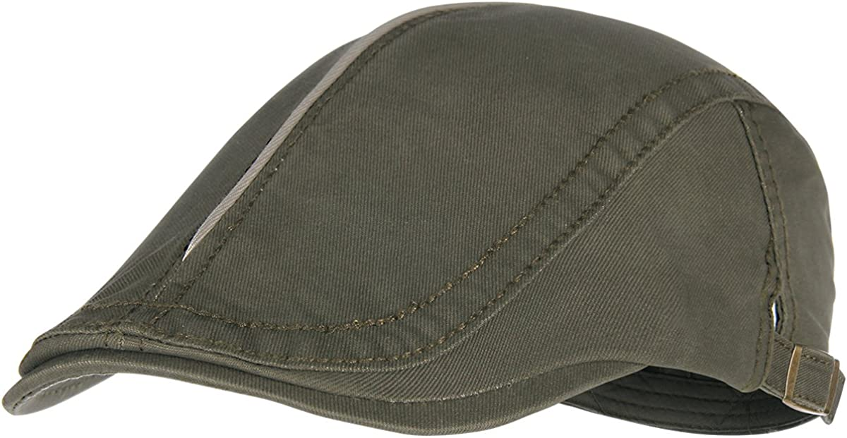 Army Green Bodvera Mens Cotton Flat Ivy Gatsby Newsboy Driving Hat Summer Beret Cabbie Cap
