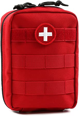 Orca Tactical MOLLE EMT Medical First Aid Utility Pouch (Bag Only) (Red)