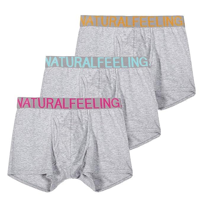 Conjuntos de Ropa Interior Hombre Calzoncillos de Algodon Mens Underwear Boxer Briefs