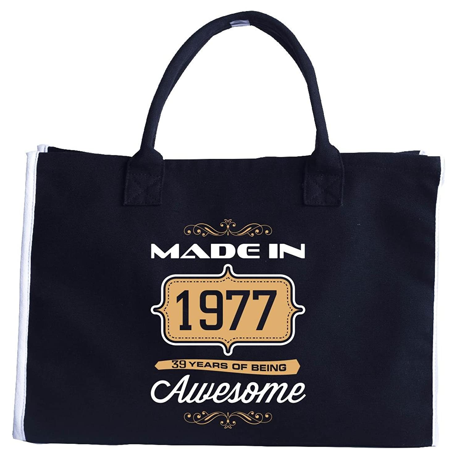 Made In 1977 39 Years Of Being Awesome Birthday Gift - Tote Bag