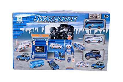 toy cars and trucks. Planet Of Toys SWAT Police Playset With Cars And Trucks Toy ,