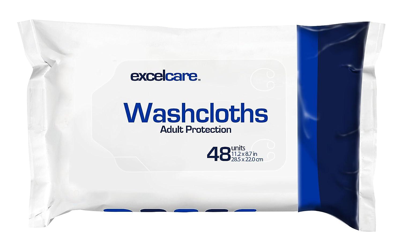 Toallitas desechables paños por excelcare - adultos para incontinencia - secado rápido baño. Keep en su cuarto de baño. Total Tamaño de la mano.