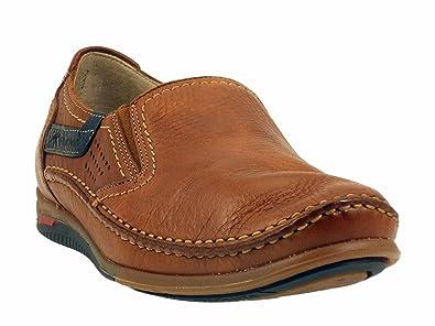 Fluchos - Mocasines de Otra Piel Hombre, Marrón (Cuero), 40 EU: Amazon.es: Zapatos y complementos
