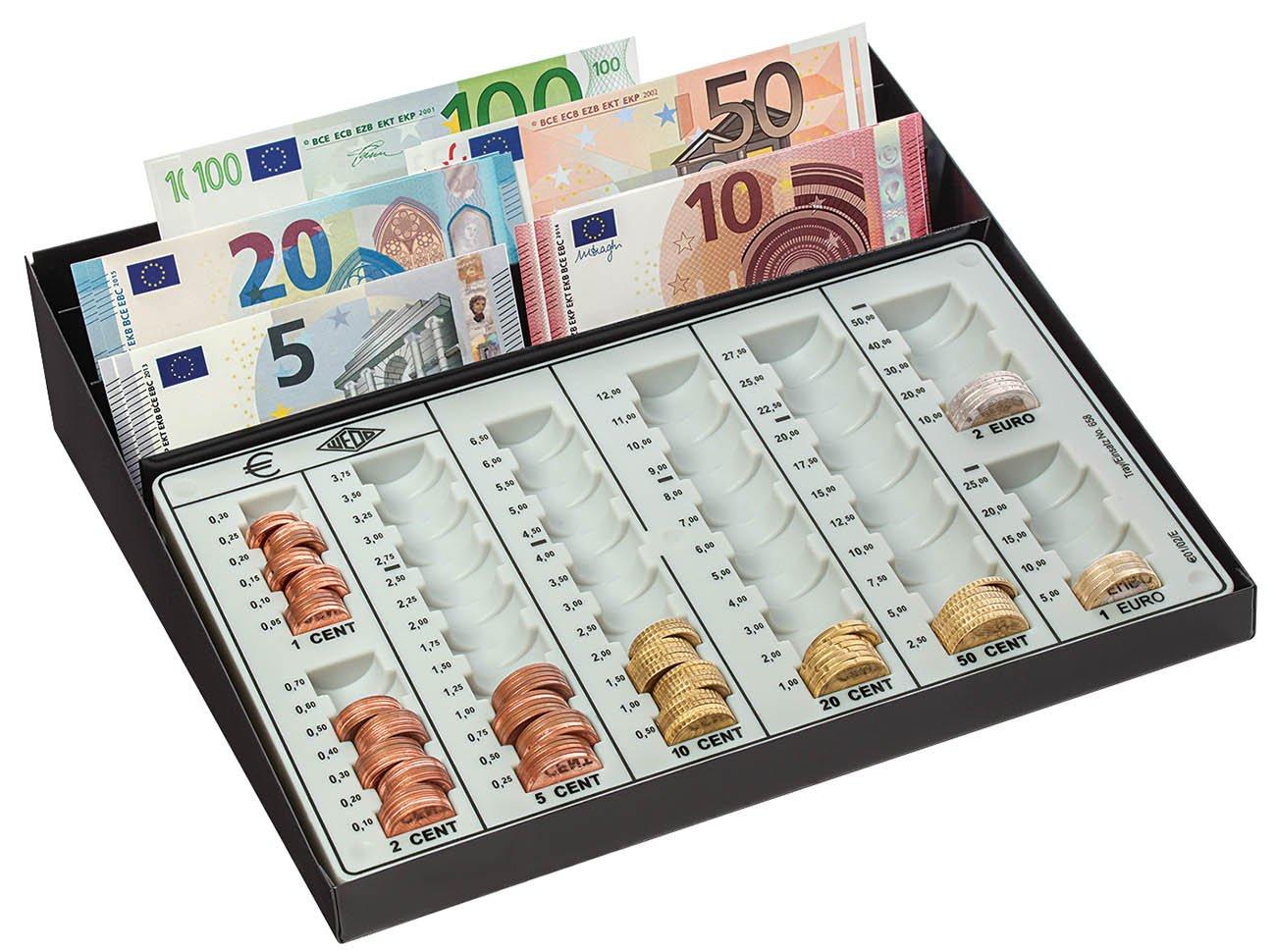 Wedo 160958049 Cassa Contanti, Colonne Fisse, 270 x 255 x 65 mm, Nero/Bianco Werner Dorsch GmbH