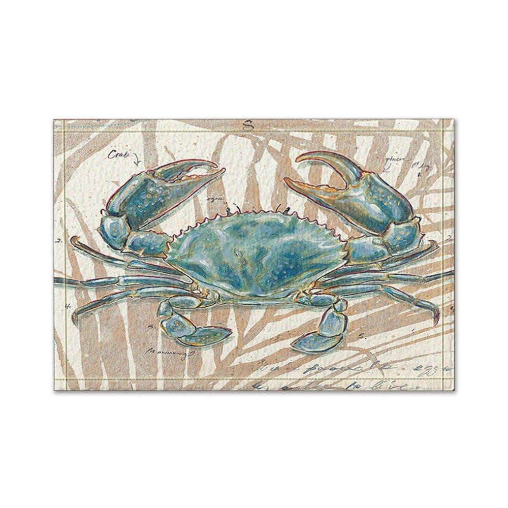 NYMB Ocean Animal Decor Blue Crab Bath Rugs,Friendship Bath Rugs Non-Slip Floor Entryways Outdoor Indoor Front Door Mat,60x40cm Bathroom Mat