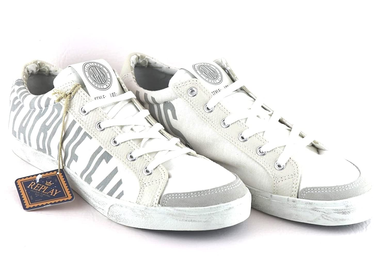 REPLAY GMV47 Sneaker Low Men Creamwhite / Gray