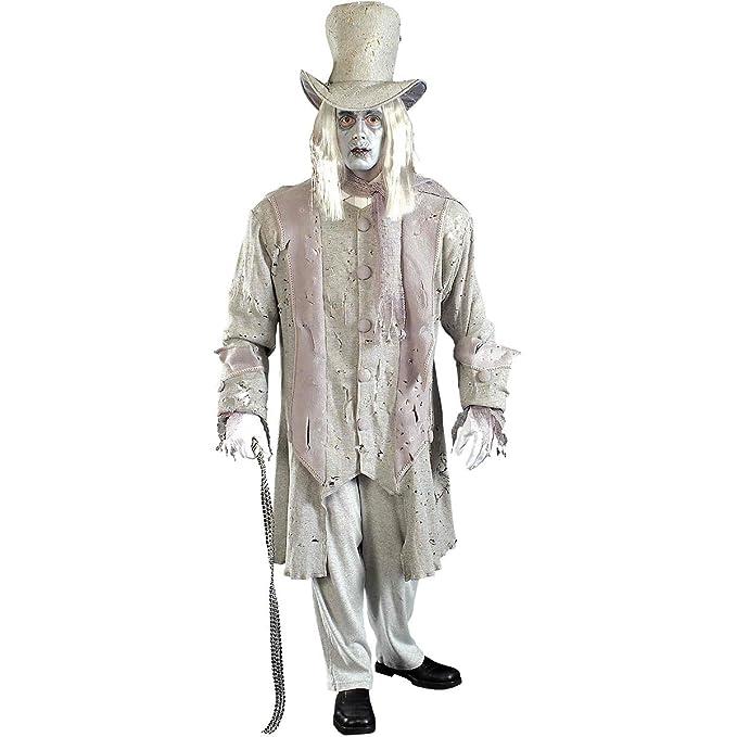 Forum Novelties Men's Ghostly Gentleman Costume, Gray/White, Standard Jacob Marley A Christmas Carol