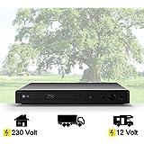 DVD Mini Blu-ray-Player mit HDMI, USB, 12Volt + 230 Volt Wohnmobil, Boot, LKW etc.