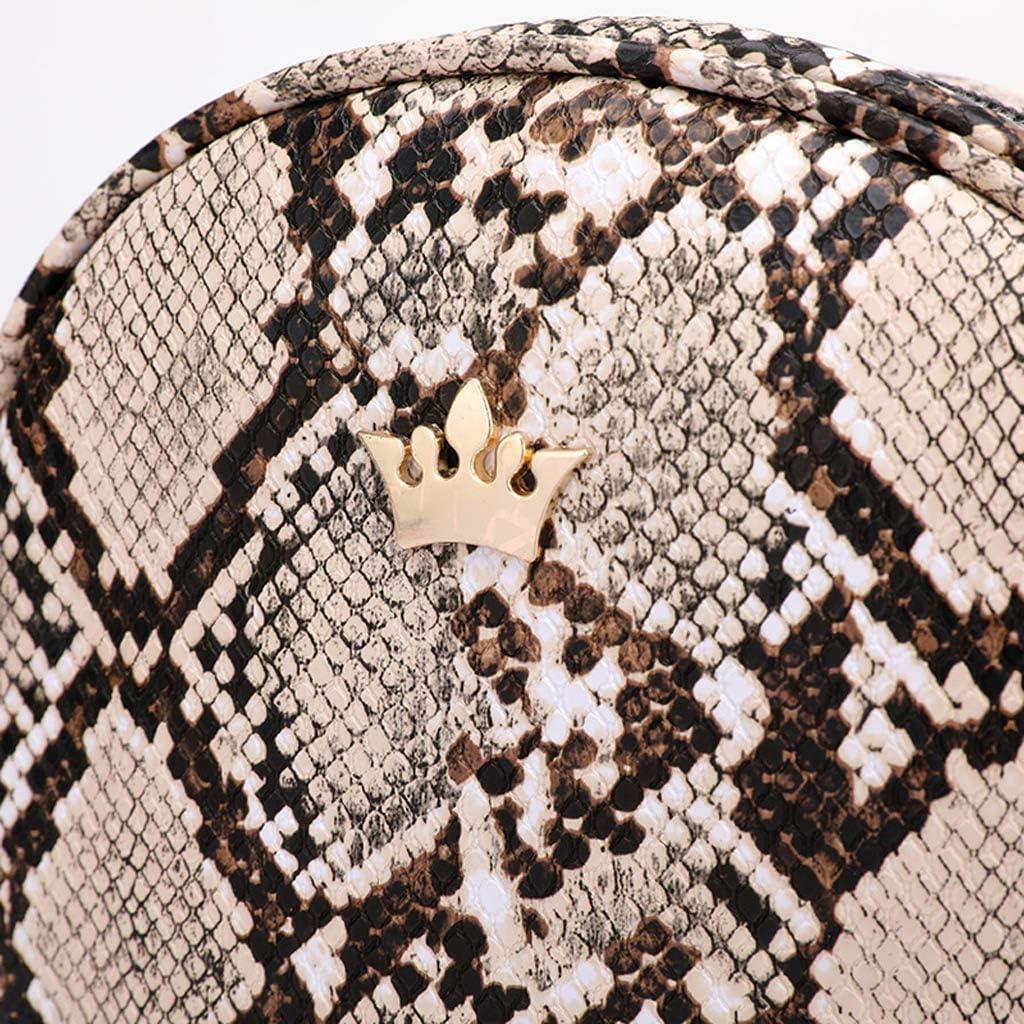 Jeune Fille /Él/égante Luotuo Sac Femme /à Bandouli/ère,Sac /à bandouli/ère /à cha/înes en cuir pour leopard Petit Sac /à Main avec Cha/îne Beige L Pochette /à Bandouli/ère pour Femme