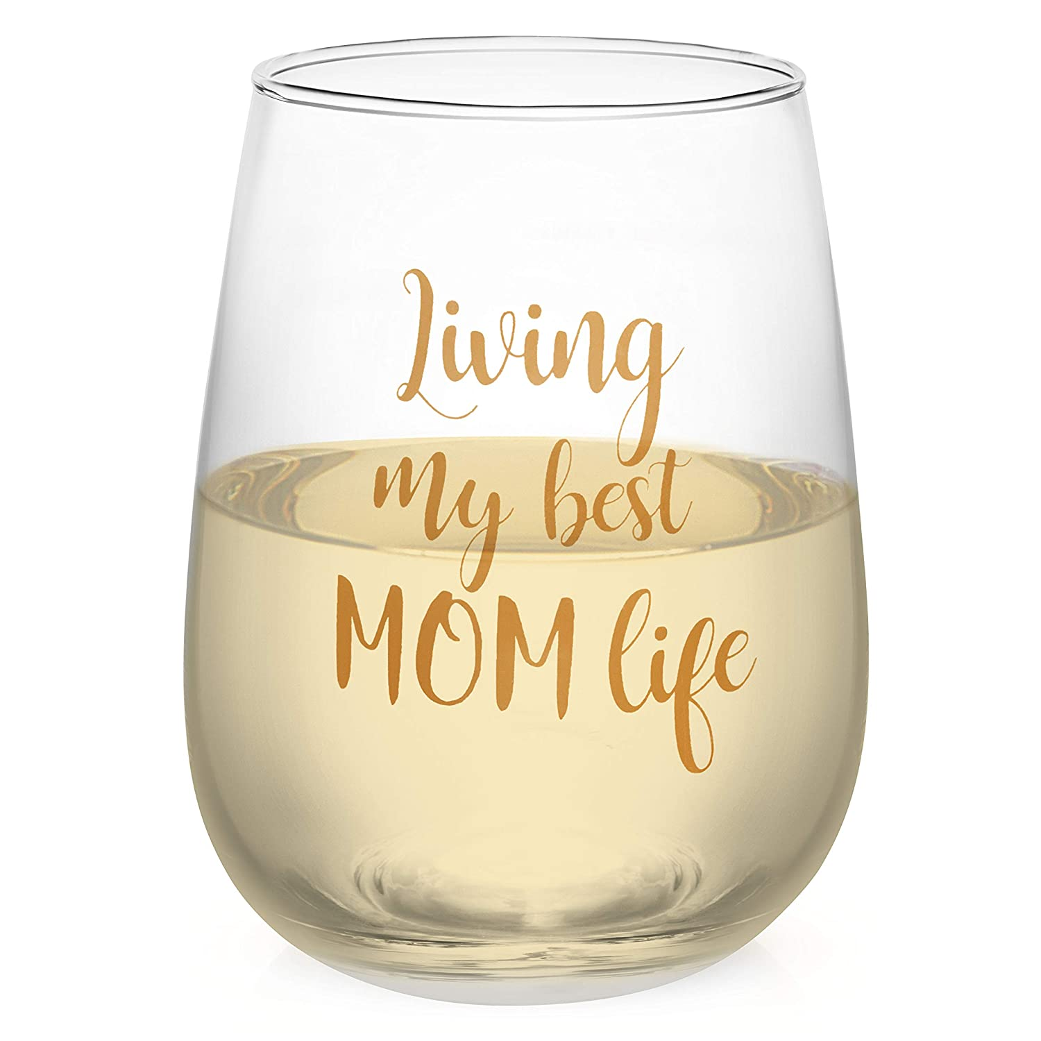 Amazoncom Funny Wine Glass For Women Living My Best Mom Life 16