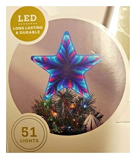 663c96e0e938d Amazon.com  12   Lit Color Changing Mirrored Star Christmas Tree ...